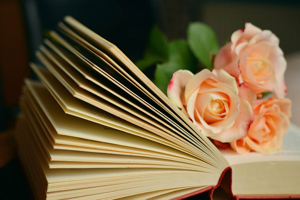 Book with flower