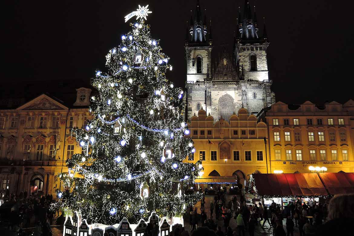 Prague Christmas Tree in Old Town Square
